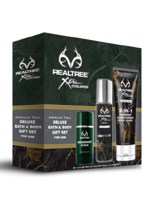 Realtree American Trail for Him  Bath/Body 3 Piece Gift Set