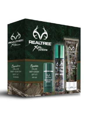 Realtree for Him Bath/Body 3 Piece Gift Set
