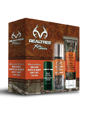 Realtree Mountain Series for Him  Bath/Body 3 Piece Gift Set
